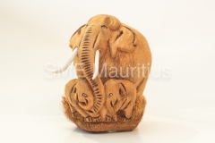 FC101-Elephant-with-2-babies-Fernando-Coco-Craft-Mrs-Tarunee-Palamandadige-Tel-52526039-fernandocococraft@yahoo.com-